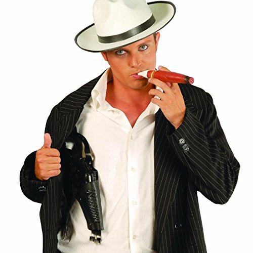 NET TOYS Spielzeugpistole mit Halfter Revolver 40 cm Spielzeugwaffe Fasching Colt Gangster Pistolenhalfter Knarre Bandit Pistolenholster Western Kostüm Zubehör (Gangster Revolver)
