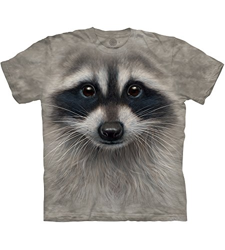 Erwachsen Raccoon Face Tier T Shirt, Grau, XL ()