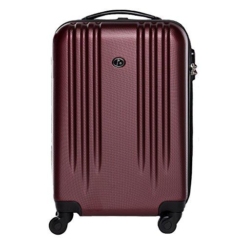 FERGÉ Handgepäck-Koffer leicht Marseille Bordgepäck-Koffer Hartschale | Reisekoffer Kabinentrolley mit 4 Zwillingsrollen (360°) genehmigt für Ryanair,...