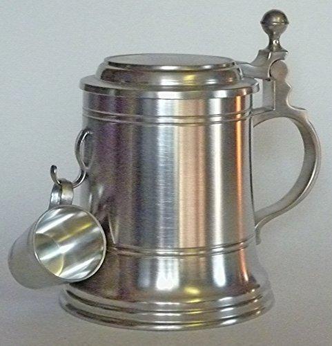 Kreiselmeyer Zinn 9060-1084 Krug Altdeutsch mit Stamper Inhalt 0.5 Liter, Legierung, Silber, 11 x 13...