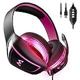 Mpow 7.1 Surround Sound Gaming Headset EG1 0ver Ear Headset mit 60mm Treiber Professionell Gaming Kopfhörer mit Mikrofon für PS4 / Xbox One/PSP/Netendo DS/PC/Tablette