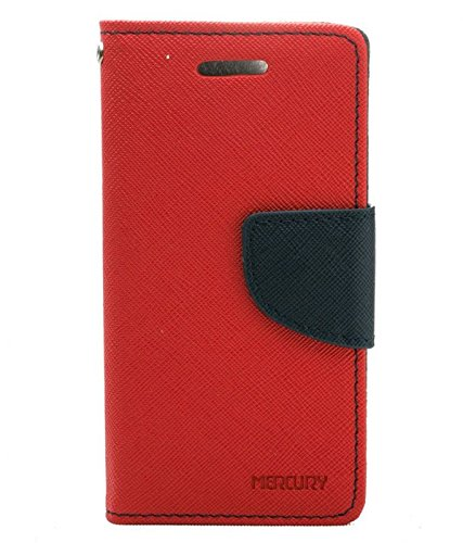 2010kharido Goospery Mercury Flip Wallet PU Leather Stand Case Cover for Nokia Lumia 520 525 Red