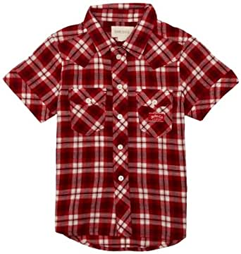 Diesel Jungen Hemd , Kent  - Rot - Red/White - 8 Jahre (Herstellergröße: 8 Years)