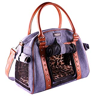 Doggydolly Authentic Purse Like Blue Denim Pet Carrier