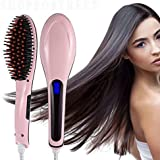 Wevdot 2 In 1 Ceramic Fast Hair Styling Brush | Hair straightener for women (Multicolor)