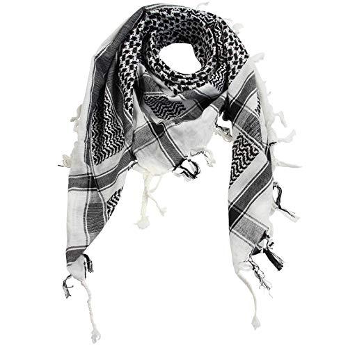 Superfreak Palituch - weiß - schwarz - 100x100 cm - Pali Palästinenser Arafat Tuch - 100{77a41921e1a742da7aa88de33fc5fe6e02f90097deecf993c956ec8c5e61c5f9} Baumwolle