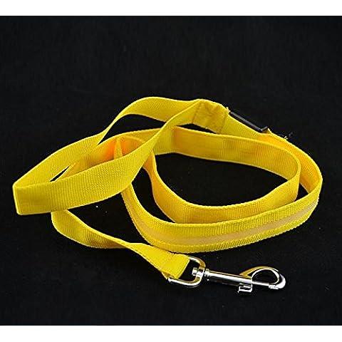 Ducomi Guinzaglio con illuminazione LED (Yellow)
