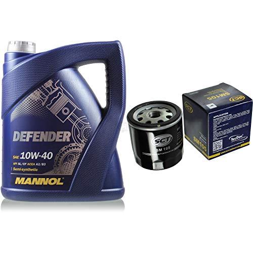 Filter Set Inspektionspaket 5 Liter MANNOL Motoröl Defender 10W-40 API SL/CF SCT Germany Ölfilter