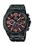 Casio Herren-Armbanduhr XL Edifice Analog Quarz Edelstahl EFR-538BK-5AVUEF