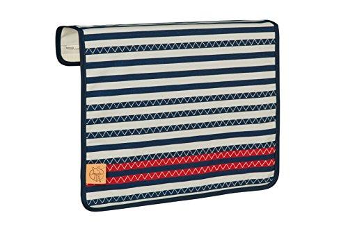 Lässig Wechselklappe Casual Frontcover Striped Zigzag, navy