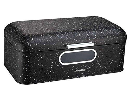 Brotkasten aus Metall, 42 x 23 x 16,5 cm, Schwarz Brotbox
