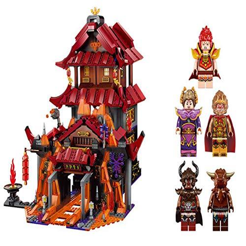 HLDX Modell Bausteine   Modell Sun Wukong Modell Reise in den Westen der orientalischen Kultur 3D-Modell -1073 PC Nano-Mini-Blöcke, Männer und Frauen Geburtstagsgeschenk (Ziel Von Lego Ninjago)