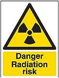 vsafety segni 6a026an-s 'pericolo radiazioni segnale di, Autoadesivo, verticale, Sostanza e chimica, 150mm x 200mm, colore: nero/giallo
