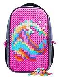 Upixel Trends Double Backpack Rucksack, 43 cm, 15.0 L, Schwarz/Magenta