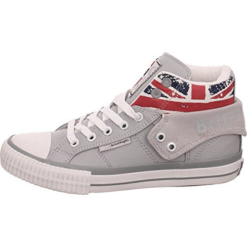 British Knights Roco, Baskets Hautes Mixte Enfant union jack/l.grey