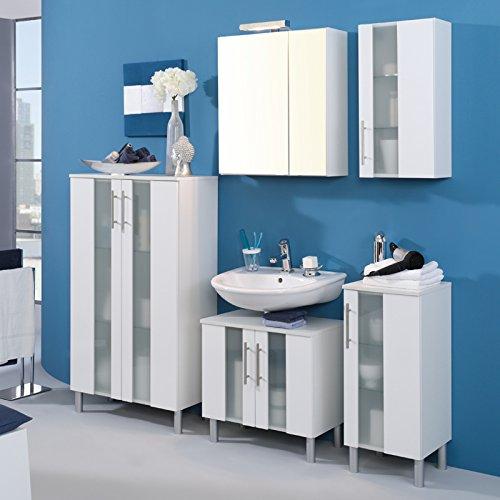 Waschbeckenunterschrank Miami, Held, weiß (60 cm breit) - 3