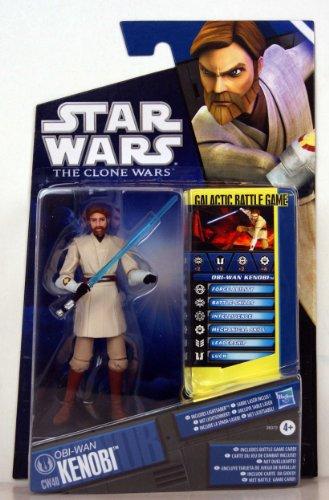Star Wars - 26372 - The Clone Wars - Galactic Battle Game - Action Figur - CW40 - Obi-Wan Kenobi (ca. 10 cm / 3 3/4