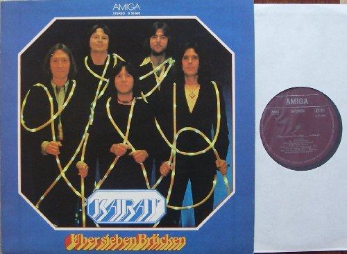 """KARAT / Über sieben Brücken / 1979 / Bildhülle mit ORIGINAL bedruckter Innen-Hülle / AMIGA # 855695 / Deutsche Pressung / 12"""" Vinyl Langspiel Schallplatte"""