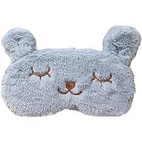 Preisvergleich für DaoRier Nette Cartoon Kaninchen Augenbinde Kaninchen Schlafmaske für Auto Aircraft Office zum Ausruhen (Grau)
