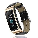 XIHAMA Band pour Huawei TalkBand B5, Cuir véritable réglable de Remplacement Bracelet de Montre Fitness Sport Bracelet Bracelet