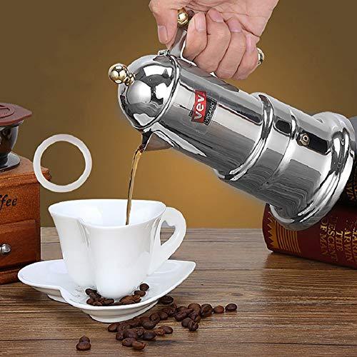 Enticerowts Kaffeekanne, Edelstahl, italienische Mokka-Espressokocher, Percolator-Topf, Kaffee-Extraktor multi