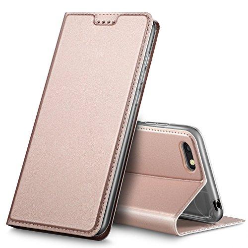 Huawei Y6 2018 Hülle, Huawei Y6 Prime 2018 Hülle, GeeMai Huawei Y6 2018 Leder Hülle Flip Case Tasche Cover Hüllen mit Magnetverschluss Standfunktion Schutzhülle Handyhülle für Huawei Y6 2018 phone