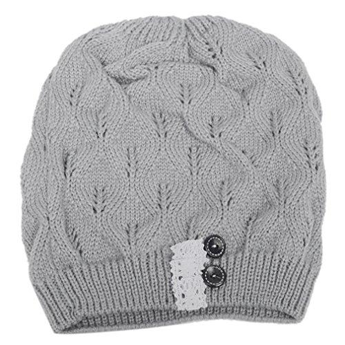 HENGSONG Cappello Autunno Inverno Per le Donne a Mano a Maglia Cappello  Caldo Elastico Caps Berretti 9567bf768b42
