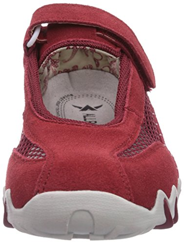 Allrounder by Mephisto Niro C.Suede 48/Open Mesh 48 Red/Red, Chaussures de Sport de Plein Air Femme Rosa (Pink (RED/RED))