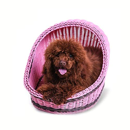 XINXI Home Cat House Dog Bed Kennel Puppy Nest Made Hand Ratán...