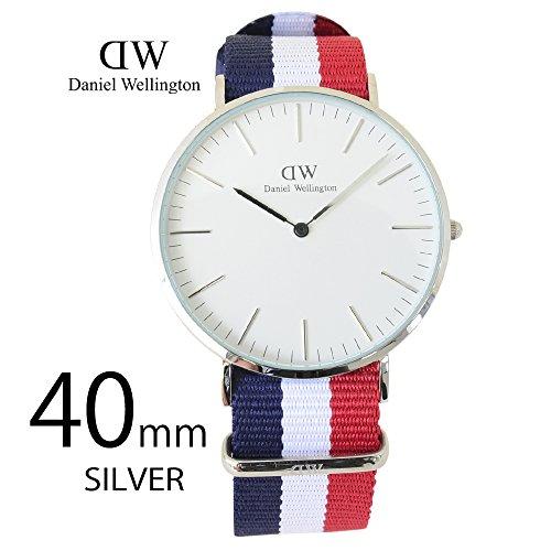 Daniel Wellington Men's Quartz Watch One Size –White, Blue/White/Red/Silver