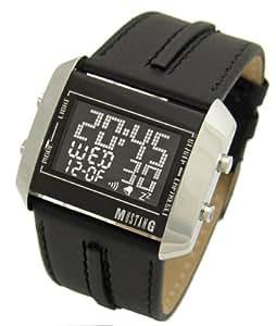 Mustang Time -4606102 -Montre Homme Quartz Digital - Bracelet Cuir Noir