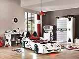 Unbekannt Autobett Kinderzimmer Cat Garage Car Weiß- Schwarz