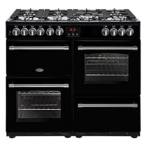 Belling Farmhouse 100DFT Freestanding 161L A Black–Kitchen (Independent, Black, Touch, Top Front, Large,