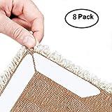 Teppich Gripper Greifer - Anti Curling Teppich Greifer Anti Slip Teppichgreifer für Ecken und Kanten - Anti-Rutsch-Teppich-Pad für Teppiche - Ideal Teppich Stopper für Küche Badezimmer - Weiß (8 pack)