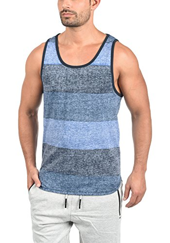 Solid Charan Men's Sleeveless Vest Tank Top with Crew Neck and Stripes