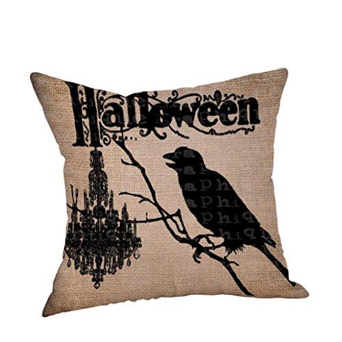 DOLDOA ☀『 Halloween kissen Abdeckungs 』☀ Happy Halloween Kissenbezüge Leinen Sofa Kissenbezug Home Decor (Halloween Geldbörsen)
