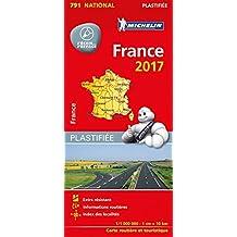 Michelin Frankreich 2017 (plastifiziert): Straßen- und Tourismuskarte 1:1.000.000 (MICHELIN Nationalkarten)