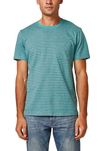 Esprit 088ee2k002, Camiseta Hombre, Verde (Aqua Green 380), Large