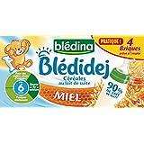 Blédina Blédidej Céréales lactées au Miel dès 6 mois 4x250ml - lot de 3