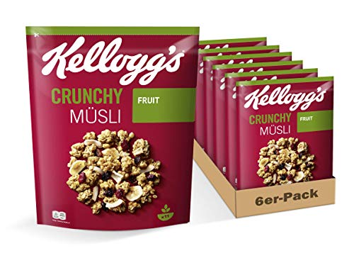 Kellogg's Crunchy Müsli Fruit, 6er Pack (6 x 500 g)