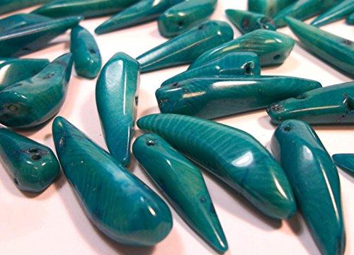 oralle Perlen Indische Saphir Blau Edelstein Naturstein Eiszapfen für Schmuck Kette Basteln Coral Beads G642 (Bead-armbänder Bedeutung)