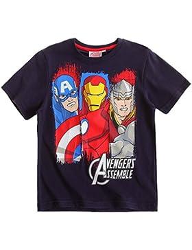 Avengers Assemble T-Shirt Kurzarm 3 Varianten 5 Größen blau, melange grau, weiß