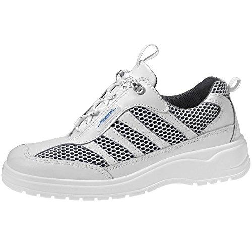 ABEBA chaussure à usage professionnel travail 1158 cuir blanc antistatique bakterienhemmend cE eN iSO 203 47:20 12 o1 fO sRA Blanc