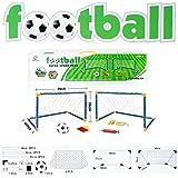 Juego de fútbol con portería silbato hinchador de balones árbitro - 6 Piezas Tor Set