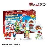 """CubicFun 3D Puzzle S-Serie """"Adornos de Navidad 2 – 8 rompecabezas"""""""