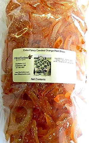 Candied Orange Peel Slices by OliveNation - Granulated Orange Peel - Size of 2 lbs (32 oz)