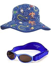 Coffret cadeau de bébé bleu marine BabyBanz et Dreamtime Bonnet Bleu 0–2ans