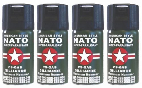 4-Stck-CS-GAS-NATO-Trnengas-40ml-Abwehrspray-CS-GAS
