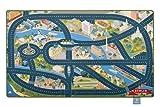 Heimatpiste Spielteppich Stadt Berlin - Straßenteppich für Kinder, Spieleteppich Straße, 100 x 160 cm, Ökotex 100 Zertifiziert, Teppich Kinderzimmer mit Kettelung