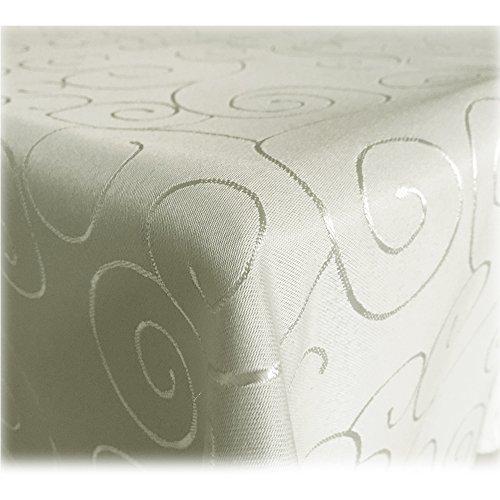 JEMIDI Tischdecke Ornamente Seidenglanz Edel Tisch Decke Tafeldecke 31 Größen und 7 Farben Campagner 110x180